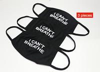 I Can't Breath Face Mask 3pc Washable Reusable Face Mask Facial Cover