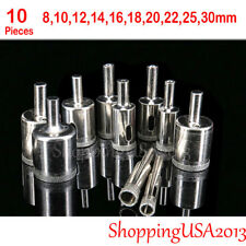 10 pcs 8-30mm Diamond Coated tool drill bit hole saw cutter set glass marble