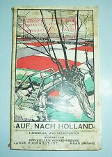 On to Holland Handbook & Guide + Railway Timetable 1930!