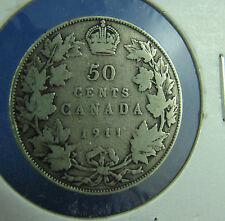 1911 Canada 50 cents silver  a nice coin VG +