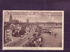 Gelaufene Ansichtskarte Köln Rheinpanorama. Verkehr & Transport Eisenbahn europa:11403