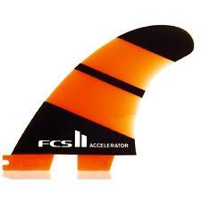 FCS II ACCELERATORE NEO VETRO Propulsore Pinne Per Tavole Da Surf Grande Nuovo Set Di 3 FIN