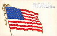 Patriotic~US Flag~Old Glory~Conquer We Must~In God is Our Trust~Gold Leaf Emboss