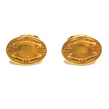 ALLING & CO. SOLID 14K YELLOW GOLD ANTIQUE CUFF BUTTON CUFFLINKS