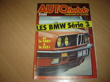 Auto hebdo N°358 BMW Série 3.Honda Civic S.
