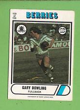 1976 SCANLENS  RUGBY LEAGUE CARD  #120 GARY DOWLING, CANTERBURY BULLDOGS