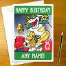 BOWSER Personalised Birthday Card - personalized nintendo mario gamer greeting