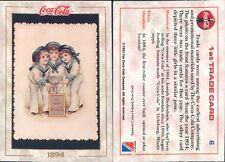 R@R@ AND ORIGINAL CARD U.S.A.*COCA COLA, FIRST SERIES-N.6*- NEW,PERFECT-N.386