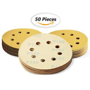 5in 180 Grit Sanding Discs Hook and Loop Sandpaper Dustless Orbital Sander Sheet
