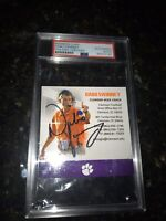 Dabo Swinney Autograph Signed Clemson Tigers Business Card PSA