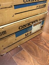 Onkyo M-504 Amplifier And Onkyo P-304 Pre-amp With Original Boxes And Manual