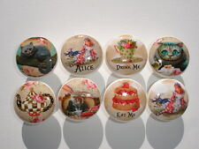 Alice in Wonderland Dresser Drawer Knobs-Version 2-Set of 8
