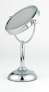 "5"" 5x Magnifying Mirror with LED Lights for Make Up Shaving Illuminated"