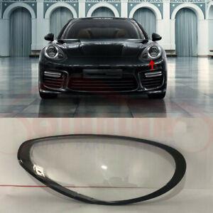 Right Side Headlight Cover Clear Pc+Sealant Glue For Porsche Panamera 2010~2013