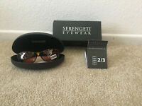 New Serengeti Rieti Tortoise 6878 Sunglasses Photochromic Lenses With Box & Case