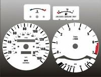 1982-1988 BMW E28 Dash Cluster White Face Gauges 5 Series E24