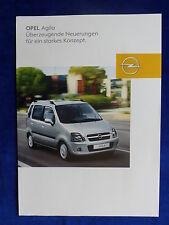 Opel Agila Facelift - Prospekt Brochure 07.2003