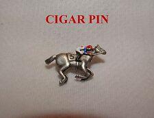 NEW CIGAR HAND PAINTED HORSE RACING JOCKEY SILKS PIN
