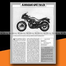 ★ KAWASAKI GPZ 750 ZX ★ 1984 Essai Moto / Original Road Test #a682