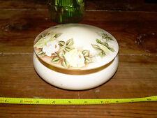 Antique Hand Painted Vanity Powder Jar Bavarian