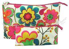 CLINIQUE Vibrant Floral Multi-coloured Makeup Cosmetic Bag x 2
