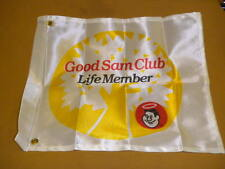 Vintage Travel Trailer Good Sam Life Member Small Flag RV Caraventure