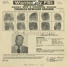 Wanted Notice - Thomas Edward Chance/Interstate Flight & Assault - FBI - 1961