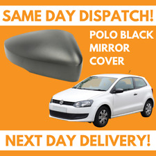VW Volkswagen Polo 6R 2009-2018 Wing Mirror Cover Black Driver Side Right NEW