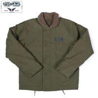 Vintage Mens N-1 Deck Jacket Military Uniform Navy USN Motorcycle Winter Coats