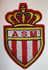 "AS Monaco~Lique 1~Soccer Football Patch~France~Embroidered~ 3"" x 2"" Ships FREE"