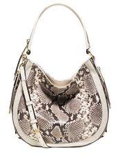 NWT MICHAEL Kors Julia Python Leather Large Shoulder Bag  ECRU MSRP $428