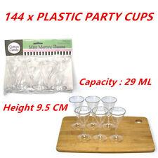 144 x Plastic Mini Martini Glasses Palate Cleanser Dessert Samples Event 29ml