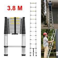 More details for 3.8m portable heavy duty multi-purpose aluminium extendable telescopic ladder