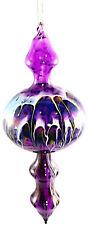 Glass Hanging Bubble Bauble Purple Ornament 20cm