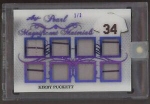 2019 Leaf Pearl Magnificent Materials Purple Kirby Puckett GU Jersey Patch 1/3