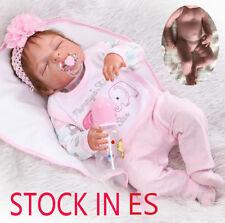 """58cm Bebé Completa Reborn Baby Doll 23"""" Silicona Recién Nacido Muñecas Chica"""
