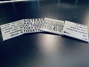 Set Of 4 Coasters Custom Made Sister Quotes Mothers Day