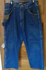 EUC Wrangler Riggs Workwear Carpenter Jeans Blue Measures 35 x 27 Free Shipping!