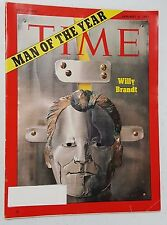 Time Magazine January 04 1971 Willy Brandt Man Of The Year - English Weekly