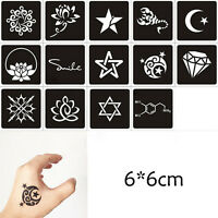 1Sheet Black Flower Style Henna Stencil Body Art Temporary Tattoo Sticker tet LJ