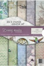 Rice Paper Decoupage Creative Set/ Scrapbooking/Evening Meadow