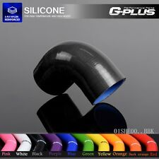 """76mm 3""""  90° Degree Hose Turbo Silicone Elbow Coupler Pipe Black"""