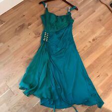 Roberto Cavalli Runway Green Corset Bustier Body Dress