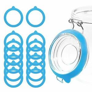 15 Pieces Silicone Replacement Gasket for Jars Airtight Rubber Seals Rings fo...