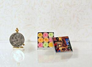 Dollhouse Miniature Christmas Theme Tin of Cookies