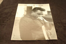 """JOHNNY CASH 1932-2003 tribute ad with guitar, """"Here Was A Man"""""""