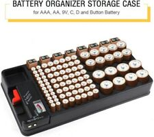 Battery Storage Organizer Holder With Battery Rack Case Box Container 98 Cells