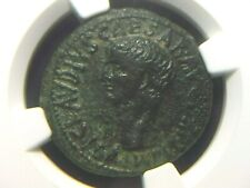 Authentic Roman AE As of Emperor Claudius, 41-54 AD NGC Ch VF 9003