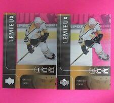 ( Lot of 2 )  MARIO LEMIEUX  2001-02   UD ICE ACETATE  #36  Pittsburgh Penguins