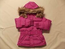 NWT Girl's Justice purple winter coat detachable fur hood ~ 5 FREE SHIPPING!